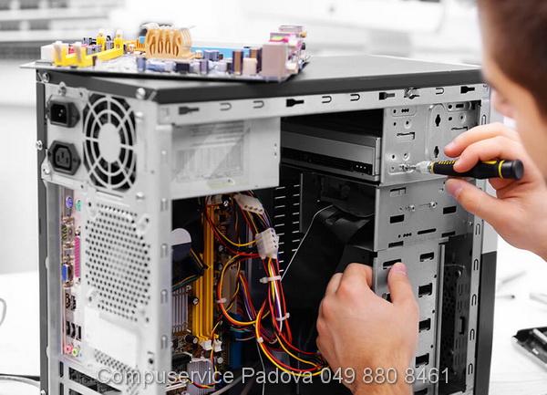 riparazione computer asus sostituzione scheda madre componenti difettosi padova