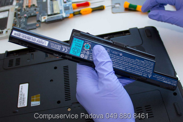 sostituzione batteria Asus padova cavo di alimentazione Asus computer Asus non si accende Padova