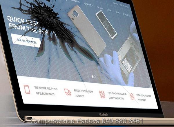 tecnico Asus sostituzione riparazione schermo nero Asus computer portatili rotto schermo rotto Asus padova